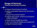 range of services financial accounting consulting