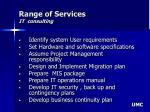 range of services it consulting