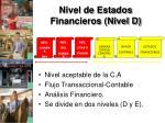nivel de estados financieros nivel d