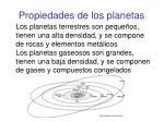 propiedades de los planetas