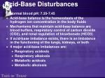 acid base disturbances