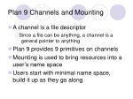 plan 9 channels and mounting
