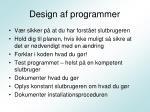 design af programmer