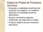 etapas do projeto de processos qu micos2