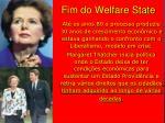 fim do welfare state
