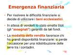 emergenza finanziaria