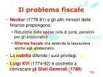 il problema fiscale