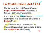 la costituzione del 1791