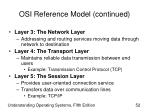 osi reference model continued52