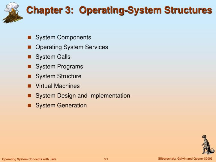 Chapter 3 operating system structures
