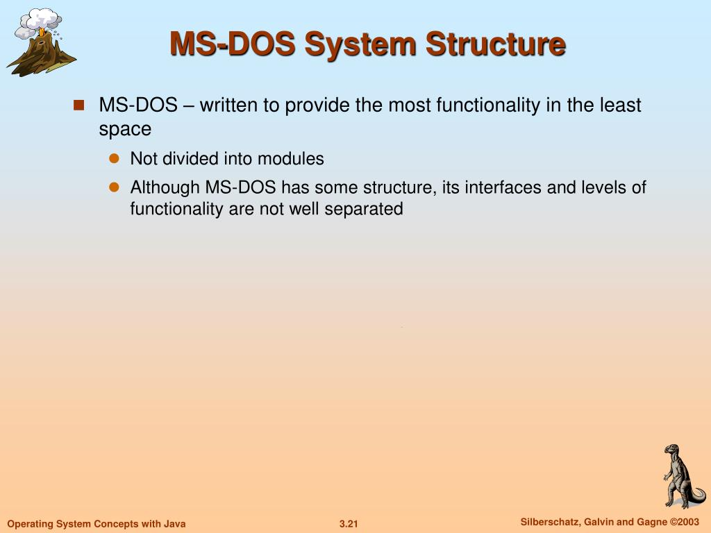 MS-DOS System Structure
