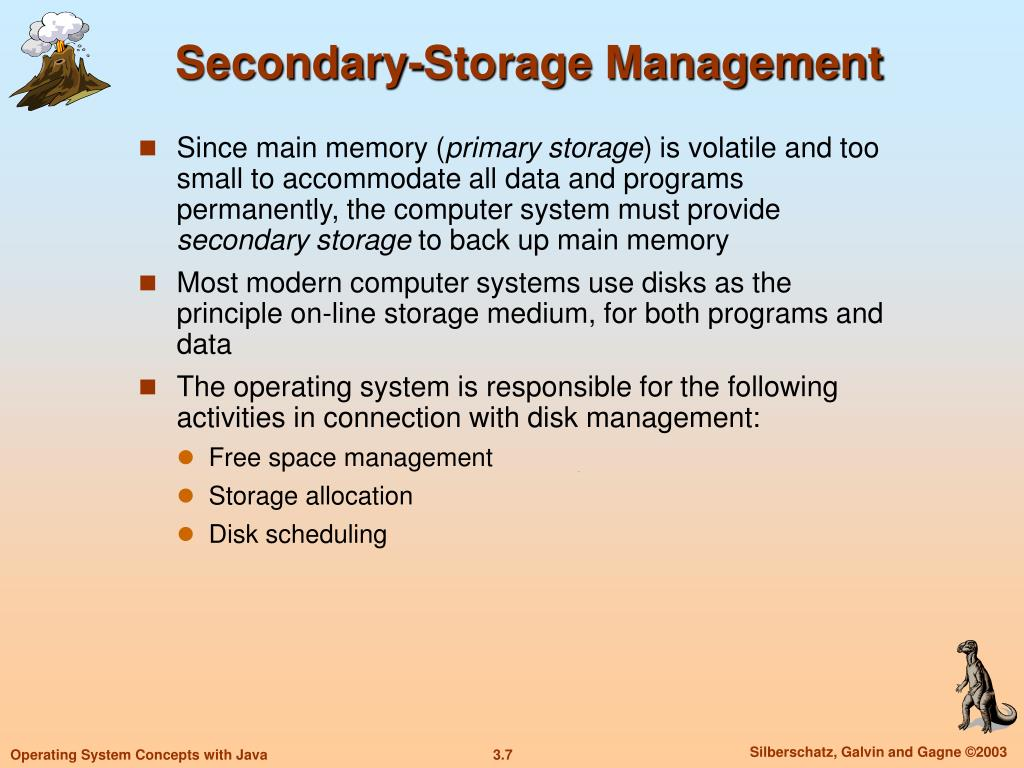 Secondary-Storage Management