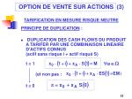 option de vente sur actions 3 tarification en mesure risque neutre