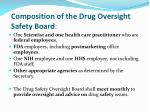 composition of the drug oversight safety board