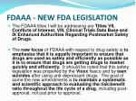 fdaaa new fda legislation