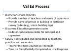 val ed process