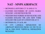 nat mnps airspace