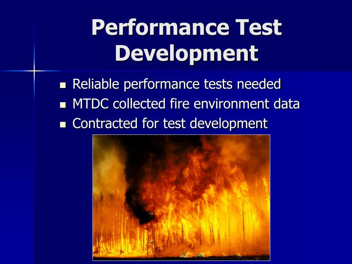 Performance Test Development