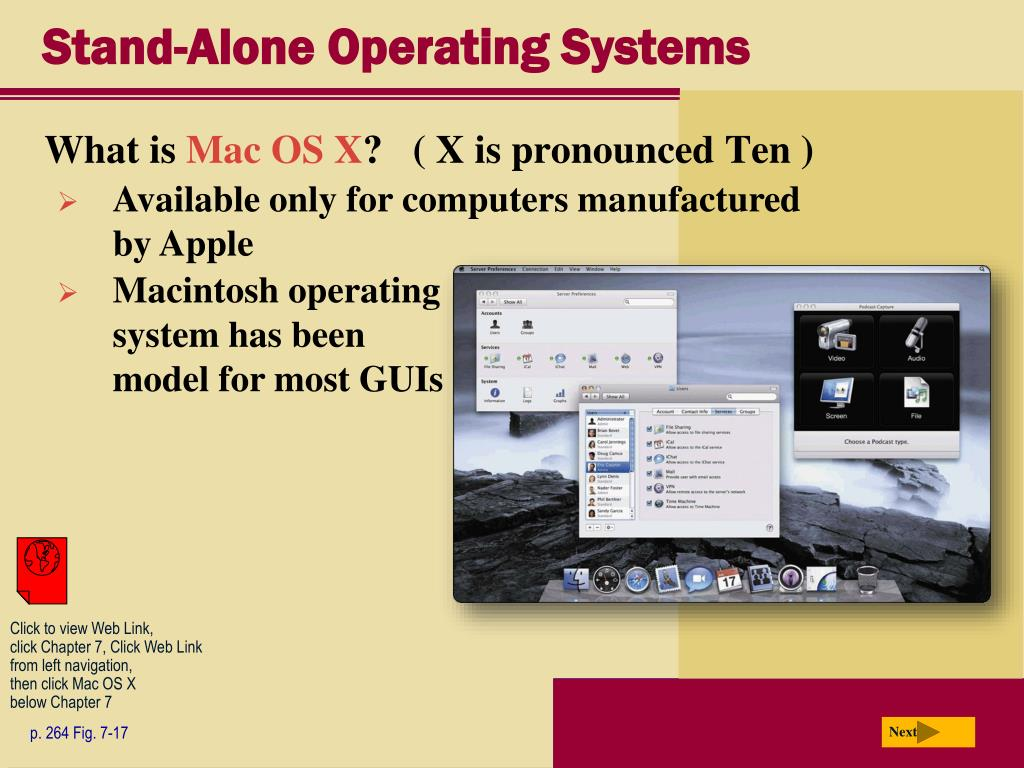 Stand-Alone Operating Systems