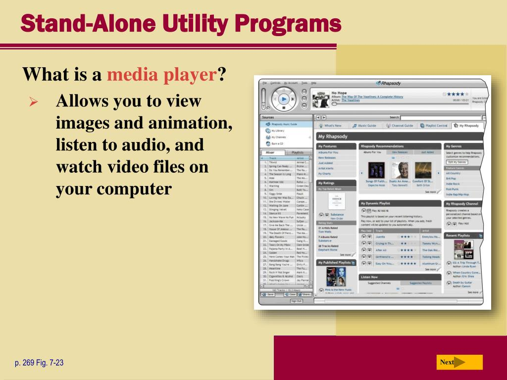 Stand-Alone Utility Programs