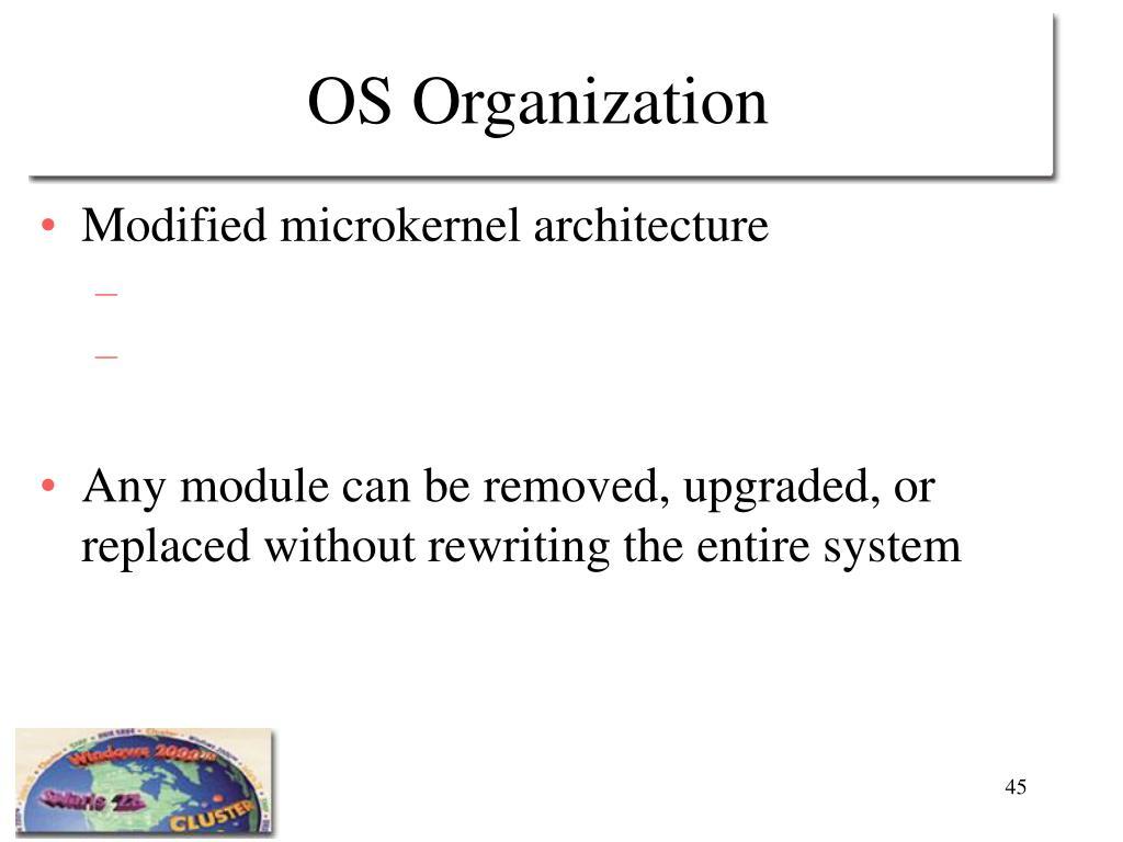OS Organization
