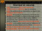 cronolog a de la acciones contra el timerosal en vacunas