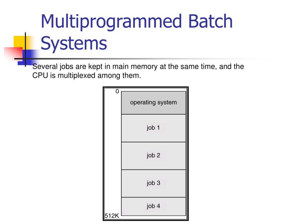 Multiprogrammed Batch Systems