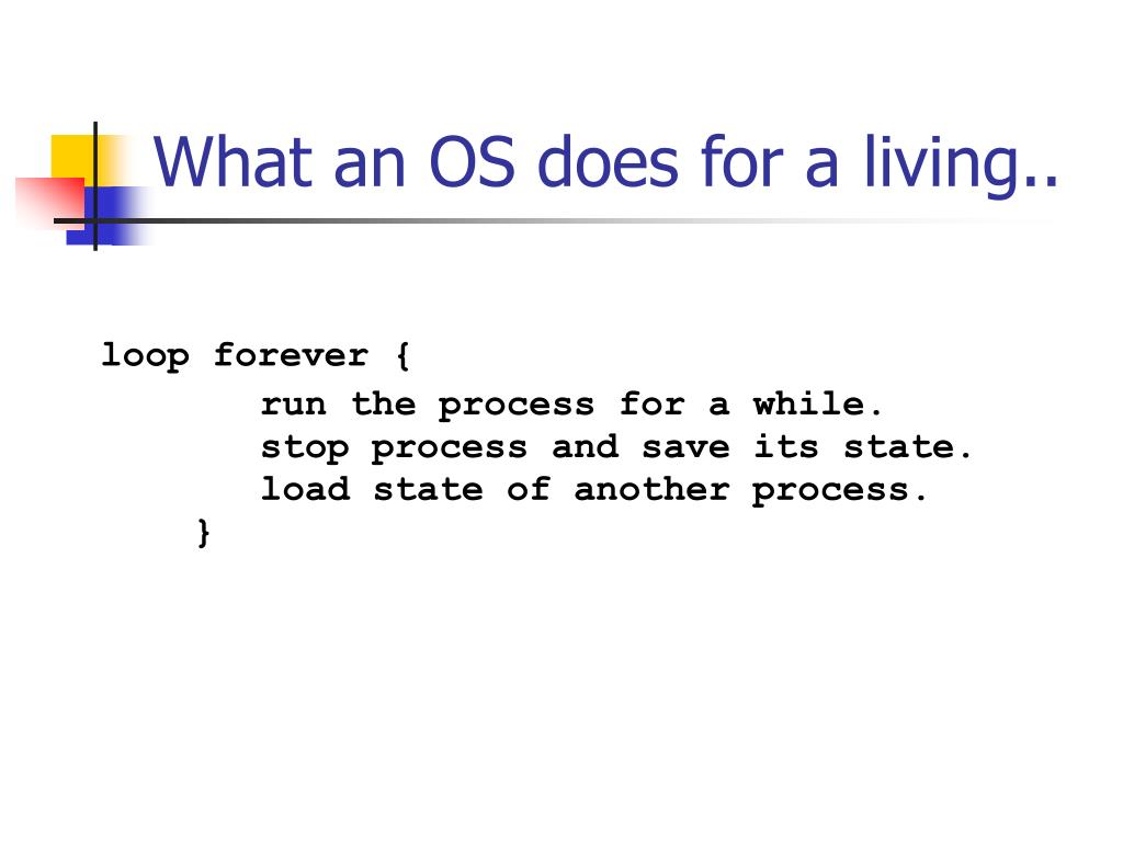 What an OS does for a living..
