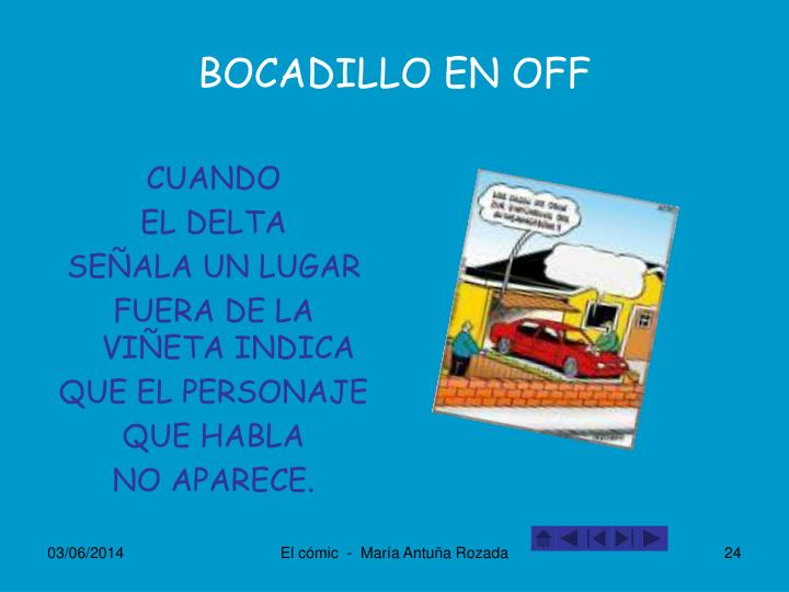 BOCADILLO EN OFF