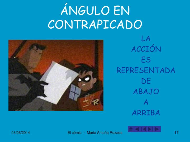 ÁNGULO EN CONTRAPICADO