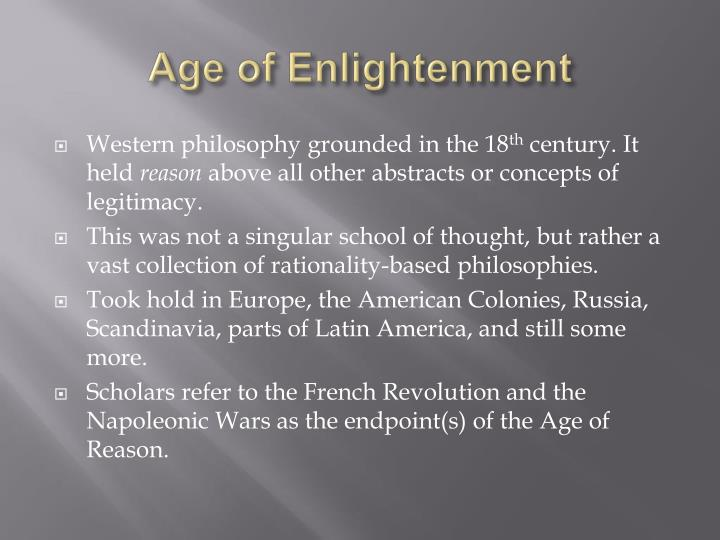 Age of enlightenment
