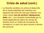 crisis de salud cont