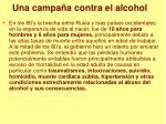 una campa a contra el alcohol