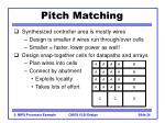 pitch matching