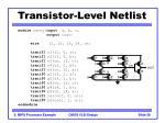 transistor level netlist