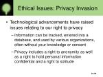 ethical issues privacy invasion