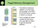 paged memory management22
