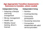 age appropriate transition assessments outcomes to consider where needed