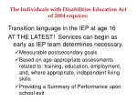 the individuals with disabilities education act of 2004 requires