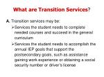 what are transition services3