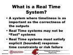 what is a real time system