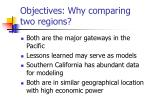 objectives why comparing two regions