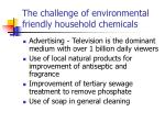 the challenge of environmental friendly household chemicals