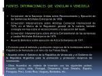 fuentes internacionales que vinculan a venezuela
