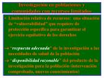 investigaci n en poblaciones y comunidades con recursos limitados