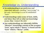 knowledge vs understanding