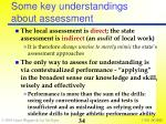 some key understandings about assessment