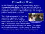 ethnomed s roots