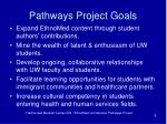 pathways project goals