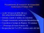 procedimientos de evaluaci n de incapacidad residual para el trabajo ivss